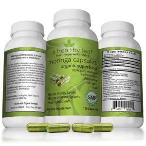 Moringa Capsules Made From Certified Organic Moringa